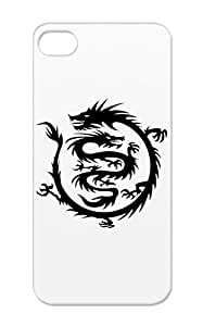 TPU Black China Dragon Symbols Chinese Symbols Martial Arts Icon Shapes Anti-drop Protective Protective Hard Case For Iphone 5