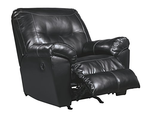 black recliner chairs leather fabric
