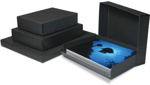 11.5x14.5x3 Black Print File Drop-Front Metal Edge Archival Storage Box