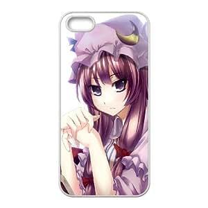 Anime Girl dulce libro Cap 14,923 iPhone 5 caja del teléfono celular 5s funda blanca del teléfono celular Funda Cubierta EOKXLKNBC00344