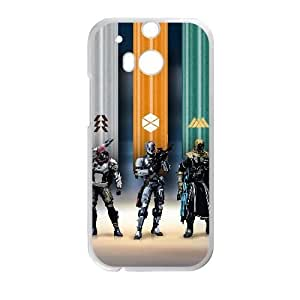 HTC One M8 Cell Phone Case White Destiny Game Hunter Titan and Warlock Custom FDJHBHGSD8664