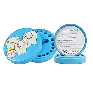 MagiDeal Caja de Almacenaje de Dientes de Leche de Bebé Lanugo Pelo Guardar - Azul (precio: 8,55€)