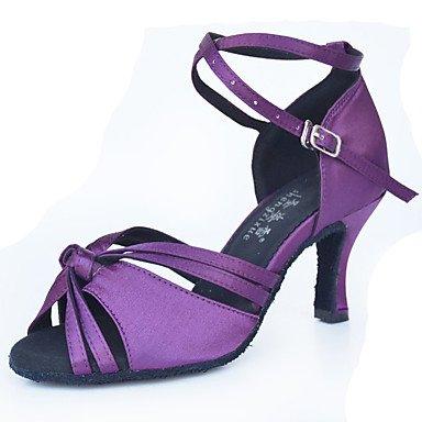 Latino Personalizables Zapatos purple Tacón baile Morado Stiletto de tFFxI4qwn7