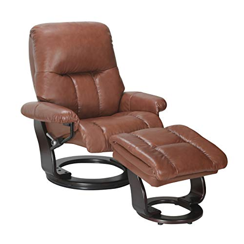 Coja by Sofa4life Senter Leather Recliner and Ottoman ()