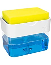 S&T INC. Countertop Dish Soap Pump Dispenser and Sponge Caddy for Kitchen Sink