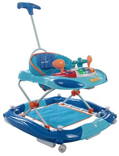 Sun Baby - Andador con volante, color azul: Amazon.es: Bebé