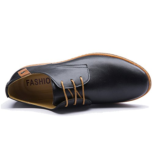 a57d44c93ec1 XMWEALTHY Men s Fashion Casual Shoes Classic Lace Up Oxford Shoes on sale