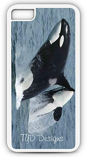 (iPhone 7 Plus 7+ Case Orca Blackfish Grampus Killer Whale Customizable by TYD Designs in White Plastic)