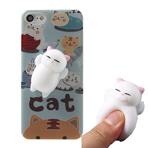 Xiaomi Redmi Note 4X Case,Polar Bear Sleepy Squishy Cat Chicken Finger Pinch 3D Silicone Relax Poke Squishy Toys Kawaii Animals TPU Case for Xiaomi Redmi Note 4X (Cat Tiger)