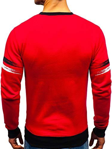 Sportif Bolf 1a1 dd309 La Style Sans Travers Rond Homme Tête Sweatshirt Capuche Le Imprimé Rouge À Col Inséré vrvwq