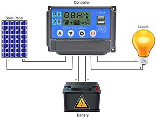 Solarladeregler,Hunpta@20A/30A/40A/50A Solarladeregler Auto PWM Ladegerät Regler 12 V 24 V 1920 Watt MAX (D)
