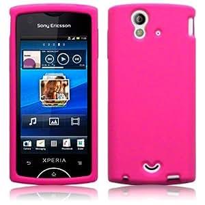Sony ericsson 5052274214206 - Funda carcasa silicona se xperia ray st18i color rosa