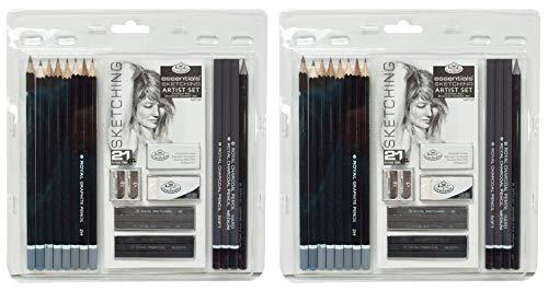 Royal & Langnickel Essentials Sketching Pencil Set, 21-Piece (2 Sets)