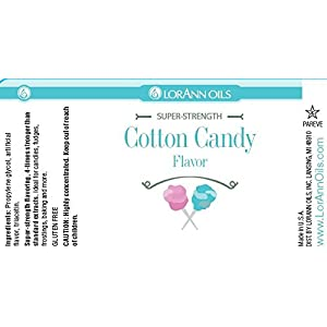 Lorann Hard Candy Flavoring Oil Cotton Candy Flavor 1 Ounce