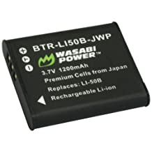 Wasabi Power Battery for Pentax D-LI92 and Ricoh Pentax Optio I-10, RZ10, RZ18, WG-1, WG-1 GPS, WG-2, WG-2 GPS, WG-3, WG-3 GPS, WG-4, WG-4 GPS, WG-10, X70