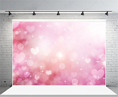 Wings Heart Drops (AOFOTO 7x5ft Sweet Love Hearts Pattern Photography Background Glitter Snowflake Stars Abstract Backdrop Kid Newborn Girl Child Infant Artistic Portrait Photoshoot Studio Props Video Drape Wallpaper)