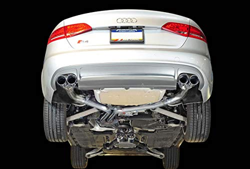 (AWE Tuning 3020-42026 Audi S4 3.0T Track Edition Exhaust (- Chrome Silver Tips 102mm))