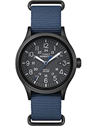 Timex Men TW4B04800GP Casual Black Dial and Blue Nylon Strap Expedition Watch