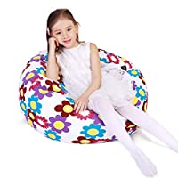 Lukeight Stuffed Animal Storage Bean Bag Chair