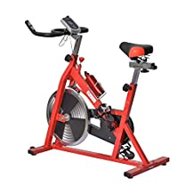 Soozier B1-0168 Pro Indoor Cycling Bike Exercise Bicycle Cardio Workout Aerobic Machine with Water Bottle Home Gym Office