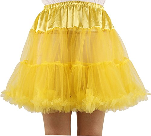 Rockin' Witch Toddler Costumes (Ponce Fashion Women's Princess Mini Tutu Skirt Short Petticoat - Yellow)