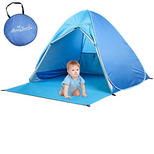 MonoBeach Baby Beach Tent Automatic Pop Up Shade Cabana Portable UV Sun Shelter, - Beach Baby Beach
