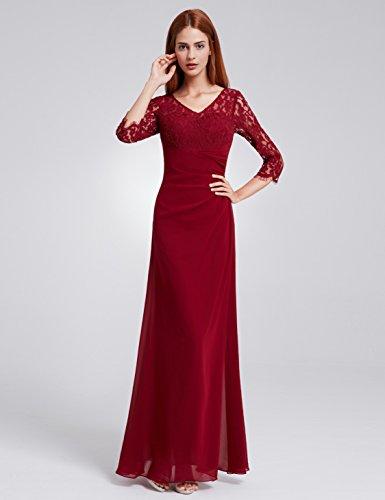 Ever Pretty de la mujer elegante encaje Top largo vestido de fiesta de noche 08861 granate