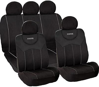 Amazon.com: Momo – Fundas para asientos de coche, Negro/Gris ...