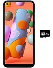 "$153 » Samsung Galaxy A11 (32GB, 2GB) 6.4"" Dual SIM GSM Unlocked, Global 4G LTE International Model (T-Mobile,AT&T,Metro,Cricket) A115M/DS (64GB SD Bundle)"