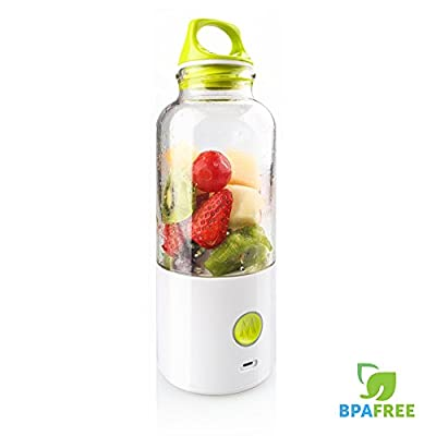 Portable Juice Blender & Mixer, MECO Personal Juicer Cup Rechargeable Electric Juice Maker with 550ML Water Bottle for Home Office Outdoors and Travelling