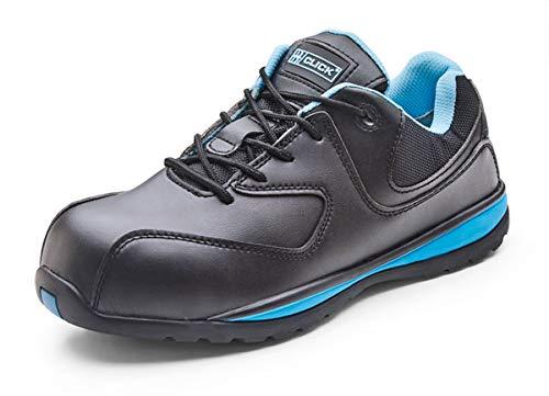 Tennis Semelle click B Footwear Sécurité Noir Chaussure Dérapant Cf862 bleu Clair Microfibre Femmes Anti TUzCZqwU