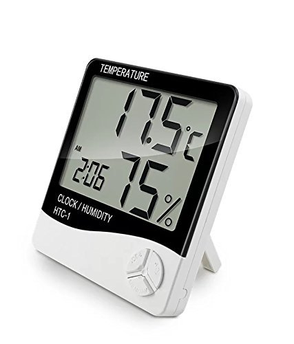 Indoor Digital Humidity Temperature Thermometer Sensor, Hygrometer Meter Gauge with LCD Display for Room Home Office Indoor Living (White) (Room Temperature Sensor)