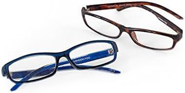 London Fog Designer Reading Glasses for Men & Women 2 PK Readers