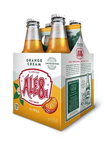4 Pack BRAND NEW Orange Cream Ale 8 One Limited Edition, 12 ounces (4 Glass Bottles)