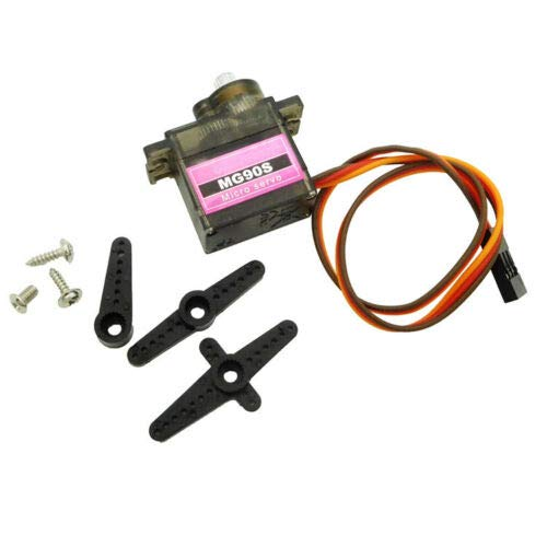 - SENRISE 9G Digital Servo, High Speed Metal Gear MG90S Micro Servo Motor For Robot RC Helicopter Airplane Boat Remote Control (1Pcs)