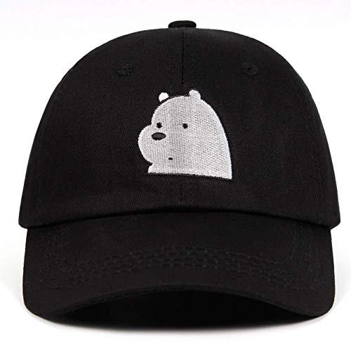 (LFLWO We Bare Bears Dad Hat Icebear Baseball Caps 100% Cotton Ice Bear Grizzly Panda Embroidery Snapbcak Cap Anime Polar Bear Dropship)