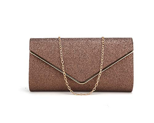 - Nodykka Clutch Purses For Women Evening Bags Sparkling Shoulder Envelope Party Cross Body Handbags (Bronze8)