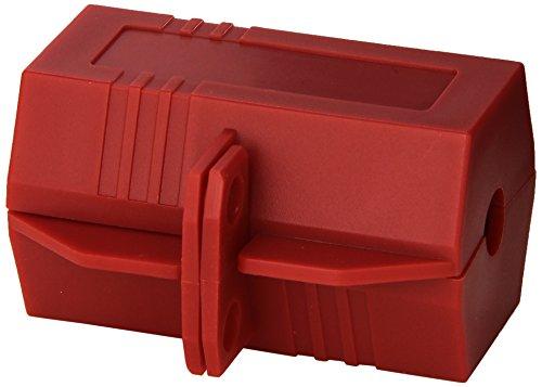 Brady 103534 Plug Lockout, 9/16'' Shackle Diameter, Red by Brady
