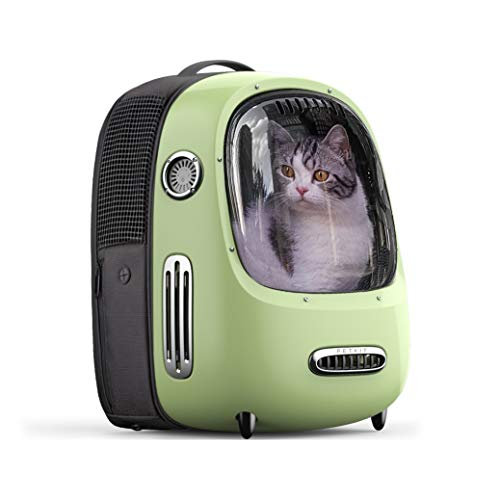 PETKIT Cat Carrier Backpack, Portable Travel Space Capsule for Cat and Small Dog, Ventilated Pet Carrier Backpack with Inbuilt Fan & Light, Comfort Pet Backpack with Padded Strap, Lightweight