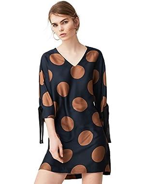 Mango Women's Polka-Dot Dress!