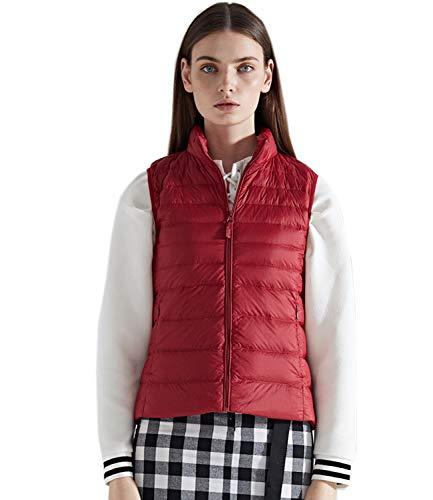 Medeshe Women's Ultralight Puffer Down Gilets Vest Matt Red
