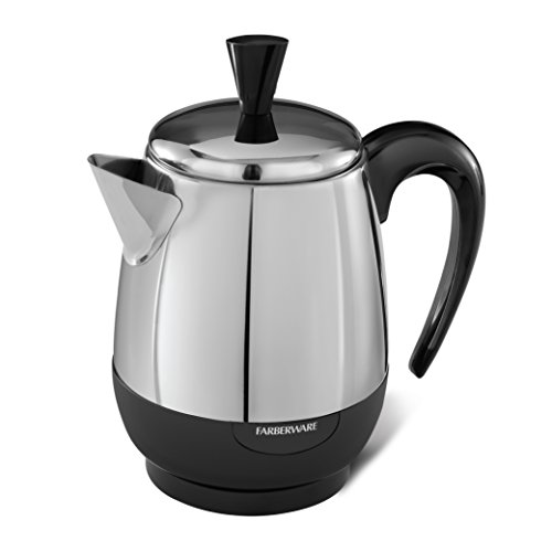 Farberware 2-4-Cup Percolator, Stainless Steel,  FCP240 (Farberware Coffee Pot)