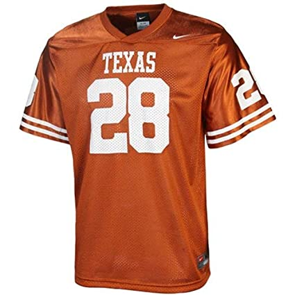 7cff3b4b736a3 Image Unavailable. Image not available for. Color: Nike Texas Longhorns #28 Youth  Orange Replica Football Jersey ...
