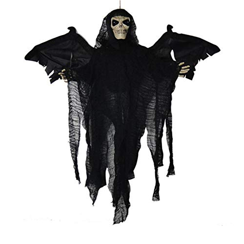 JUNMYEON Skeleton Ghost with Wings,Hanging Grim Reaper for Halloween Decoration]()