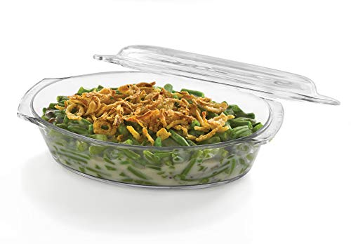 s Glass Oval Casserole Baking Dish with Cover, 1.6-quart ()