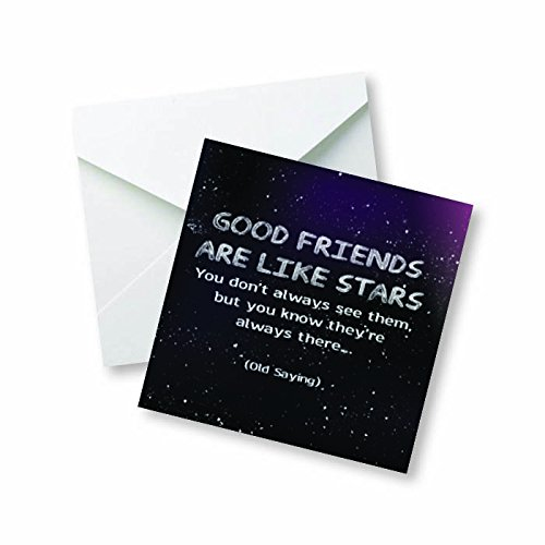 Good Friends are Like Stars, You Don't Always See Them but You Know They're Always There. - Old Saying Colored Magnet