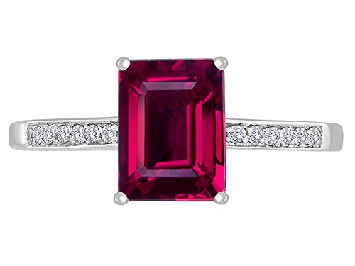 Star K 8x6mm Created Ruby Solitaire Engagement Ring 14kt Gold