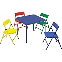 COSCO Safety First Kids 5 Piece Folding Chair and Table Set