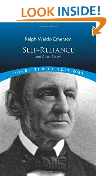 ralph waldo emerson self reliance com self reliance and other essays dover thrift editions