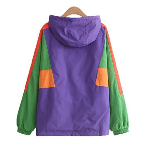Veste carre femme top veste capuche femme couleur Purple capuche rFrHnxg